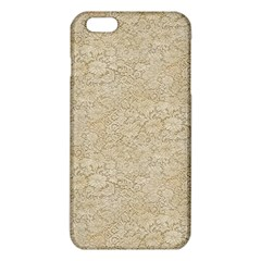 Old Floral Crochet Lace Pattern Beige Bleached Iphone 6 Plus/6s Plus Tpu Case by EDDArt
