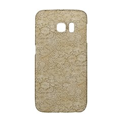 Old Floral Crochet Lace Pattern Beige Bleached Galaxy S6 Edge by EDDArt