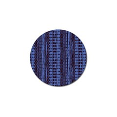 Wrinkly Batik Pattern   Blue Black Golf Ball Marker (4 Pack) by EDDArt
