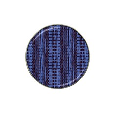 Wrinkly Batik Pattern   Blue Black Hat Clip Ball Marker (4 Pack) by EDDArt