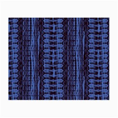 Wrinkly Batik Pattern   Blue Black Small Glasses Cloth by EDDArt