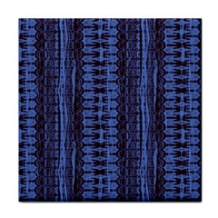 Wrinkly Batik Pattern   Blue Black Face Towel by EDDArt