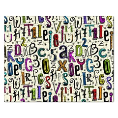 Colorful Retro Style Letters Numbers Stars Rectangular Jigsaw Puzzl by EDDArt