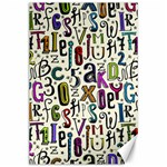 Colorful Retro Style Letters Numbers Stars Canvas 24  x 36  36 x24  Canvas - 1