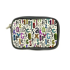 Colorful Retro Style Letters Numbers Stars Coin Purse by EDDArt