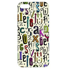 Colorful Retro Style Letters Numbers Stars Apple Iphone 5 Hardshell Case With Stand by EDDArt
