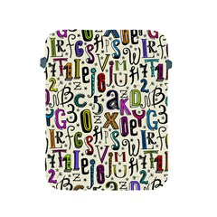 Colorful Retro Style Letters Numbers Stars Apple Ipad 2/3/4 Protective Soft Cases by EDDArt