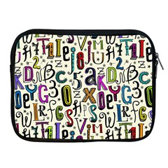 Colorful Retro Style Letters Numbers Stars Apple Ipad 2/3/4 Zipper Cases by EDDArt