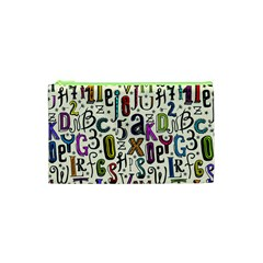 Colorful Retro Style Letters Numbers Stars Cosmetic Bag (xs) by EDDArt