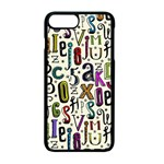Colorful Retro Style Letters Numbers Stars Apple iPhone 7 Plus Seamless Case (Black) Front