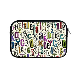 Colorful Retro Style Letters Numbers Stars Apple Macbook Pro 13  Zipper Case by EDDArt