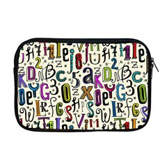 Colorful Retro Style Letters Numbers Stars Apple Macbook Pro 17  Zipper Case by EDDArt