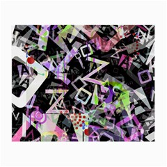 Chaos With Letters Black Multicolored Small Glasses Cloth by EDDArt