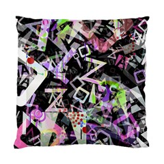 Chaos With Letters Black Multicolored Standard Cushion Case (one Side) by EDDArt