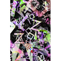 Chaos With Letters Black Multicolored 5 5  X 8 5  Notebooks by EDDArt