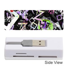 Chaos With Letters Black Multicolored Memory Card Reader (stick)  by EDDArt