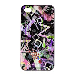 Chaos With Letters Black Multicolored Apple Iphone 4/4s Seamless Case (black) by EDDArt