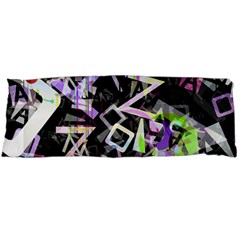 Chaos With Letters Black Multicolored Body Pillow Case (dakimakura) by EDDArt