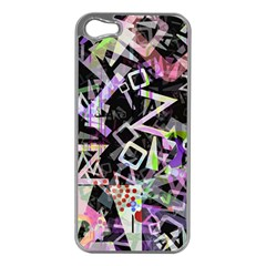 Chaos With Letters Black Multicolored Apple Iphone 5 Case (silver) by EDDArt