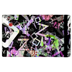 Chaos With Letters Black Multicolored Apple Ipad 3/4 Flip Case by EDDArt