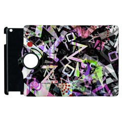 Chaos With Letters Black Multicolored Apple Ipad 3/4 Flip 360 Case by EDDArt