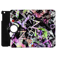 Chaos With Letters Black Multicolored Apple Ipad Mini Flip 360 Case by EDDArt