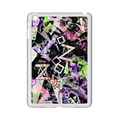 Chaos With Letters Black Multicolored Ipad Mini 2 Enamel Coated Cases by EDDArt