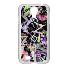 Chaos With Letters Black Multicolored Samsung Galaxy S4 I9500/ I9505 Case (white) by EDDArt