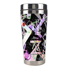 Chaos With Letters Black Multicolored Stainless Steel Travel Tumblers by EDDArt