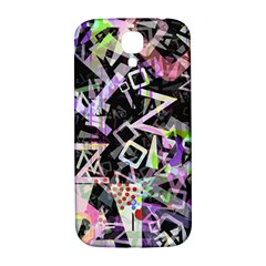 Chaos With Letters Black Multicolored Samsung Galaxy S4 I9500/i9505  Hardshell Back Case by EDDArt