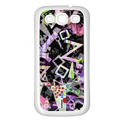 Chaos With Letters Black Multicolored Samsung Galaxy S3 Back Case (white) by EDDArt