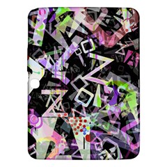 Chaos With Letters Black Multicolored Samsung Galaxy Tab 3 (10 1 ) P5200 Hardshell Case  by EDDArt