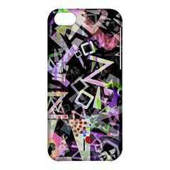 Chaos With Letters Black Multicolored Apple Iphone 5c Hardshell Case by EDDArt
