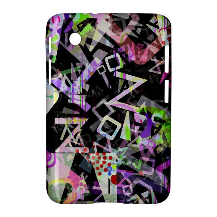 Chaos With Letters Black Multicolored Samsung Galaxy Tab 2 (7 ) P3100 Hardshell Case
