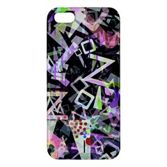 Chaos With Letters Black Multicolored Iphone 5s/ Se Premium Hardshell Case by EDDArt