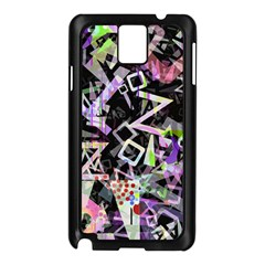 Chaos With Letters Black Multicolored Samsung Galaxy Note 3 N9005 Case (black) by EDDArt
