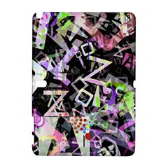 Chaos With Letters Black Multicolored Galaxy Note 1 by EDDArt