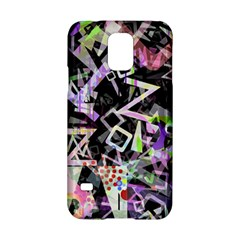 Chaos With Letters Black Multicolored Samsung Galaxy S5 Hardshell Case  by EDDArt