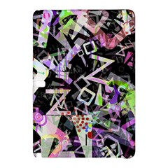 Chaos With Letters Black Multicolored Samsung Galaxy Tab Pro 10 1 Hardshell Case by EDDArt
