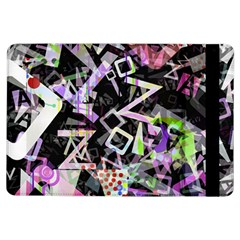 Chaos With Letters Black Multicolored Ipad Air Flip by EDDArt