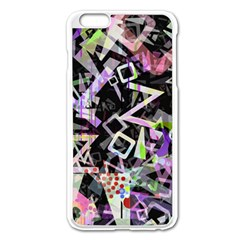 Chaos With Letters Black Multicolored Apple Iphone 6 Plus/6s Plus Enamel White Case by EDDArt