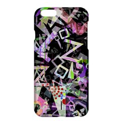 Chaos With Letters Black Multicolored Apple Iphone 6 Plus/6s Plus Hardshell Case by EDDArt