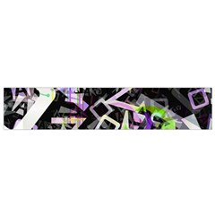 Chaos With Letters Black Multicolored Flano Scarf (small) by EDDArt