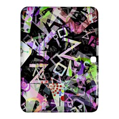 Chaos With Letters Black Multicolored Samsung Galaxy Tab 4 (10 1 ) Hardshell Case  by EDDArt