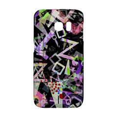 Chaos With Letters Black Multicolored Galaxy S6 Edge by EDDArt