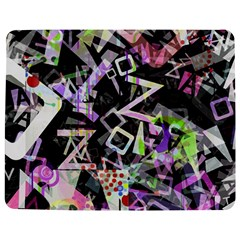 Chaos With Letters Black Multicolored Jigsaw Puzzle Photo Stand (rectangular) by EDDArt