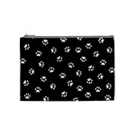 Footprints Cat White Black Cosmetic Bag (Medium)  Front
