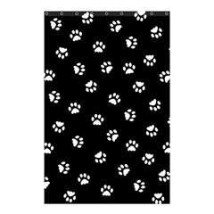 Footprints Cat White Black Shower Curtain 48  X 72  (small)  by EDDArt