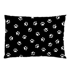 Footprints Cat White Black Pillow Case (two Sides) by EDDArt