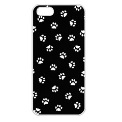 Footprints Cat White Black Apple Iphone 5 Seamless Case (white) by EDDArt